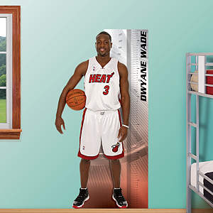 Dwyane Wade Growth Chart Fathead Wall Decal